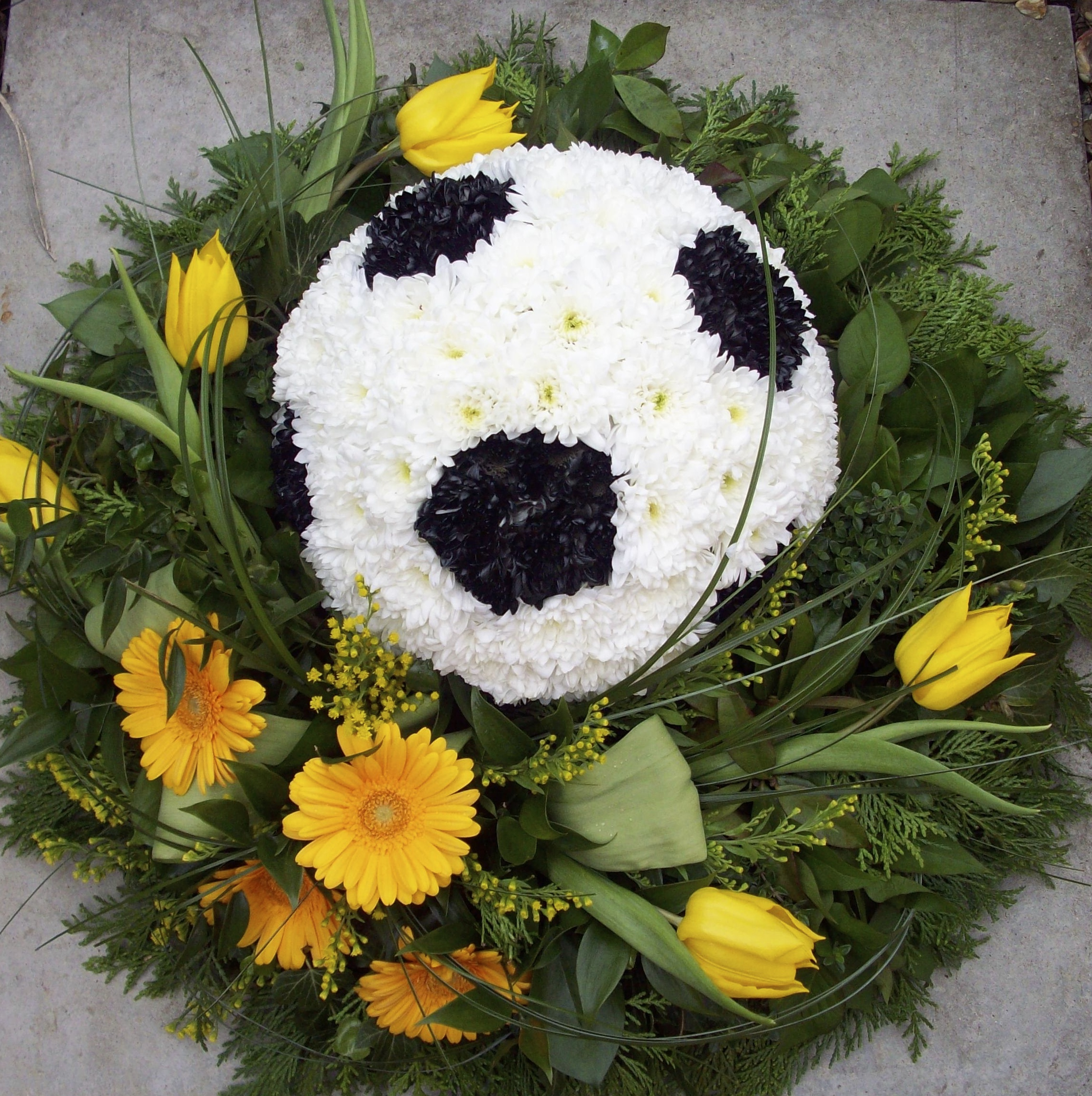 Sympathy flowers and tributes the secret garden florists heart tribute wymondham football tribute norfolk 1001190 p1030343 izmirmasajfo Images